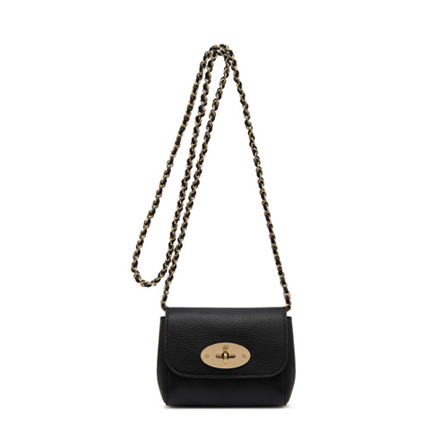 Mulberry Mini Lily Black Glossy Goat