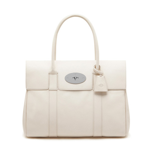 Mulberry Bayswater Cream Glossy Goat