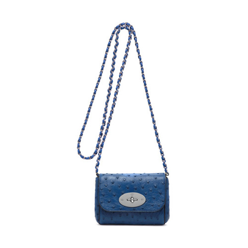 Mulberry Mini Lily Sea Blue Ostrich
