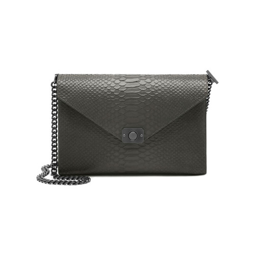 Mulberry Large Delphie Mole Grey & Black Silky Snake Leather