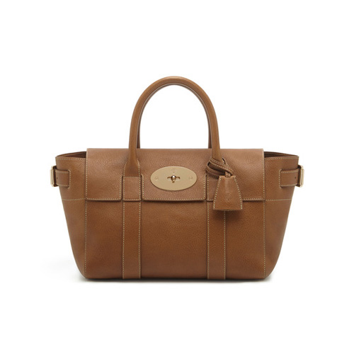 Mulberry Small Bayswater Buckle Oak Natural Leather