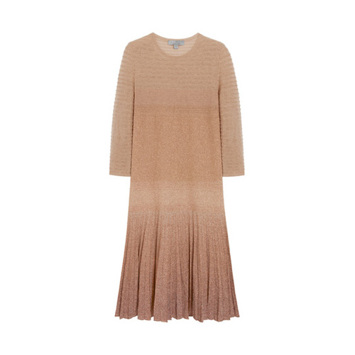 Mulberry Degrade Lurex Dress Earl Grey Mohair Blend