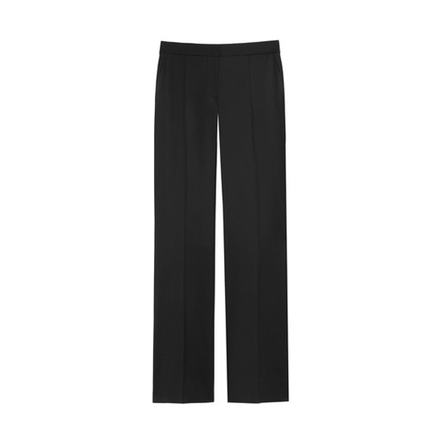 Mulberry Straight Leg Trousers Black Kid Mohair Tuxedo Wool