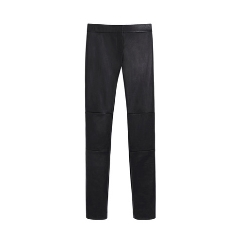 Mulberry Skinny Trousers Black Stretch Bonded Leather