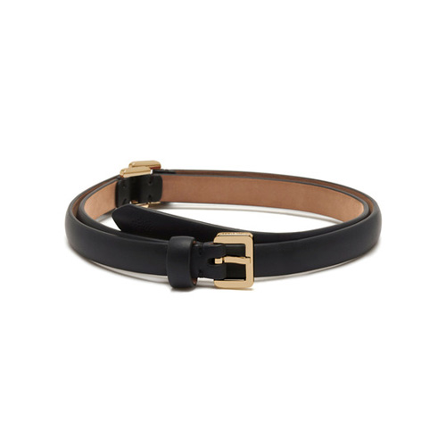 Mulberry Single Wrap Belt Black Calf Nappa