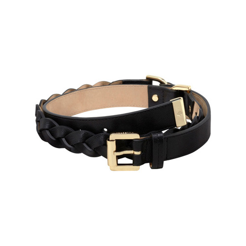 Mulberry Women\'s Braided Belt Black Soft Buffalo
