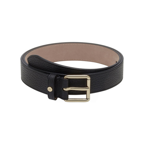 Mulberry Slim Belt Black Soft Grain Leather