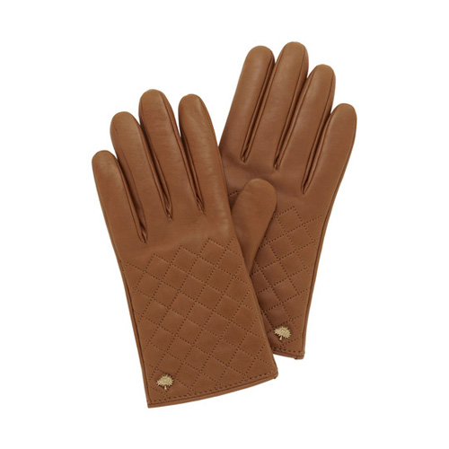 Mulberry Quilted Glove Oak Nappa