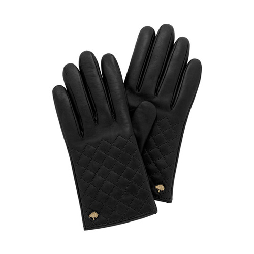 Mulberry Quilted Glove Black Nappa