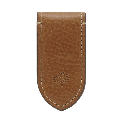 Mulberry Leather Money Clip Oak Natural Leather