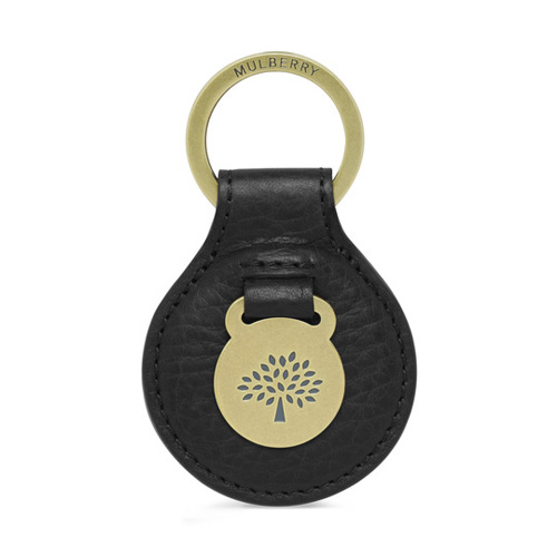 Mulberry Heritage Keyring Black Natural Veg Tanned