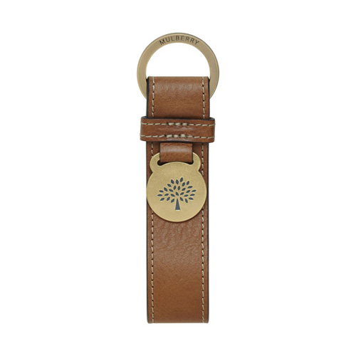 Mulberry Brynmore Keyring Oak Natural Leather
