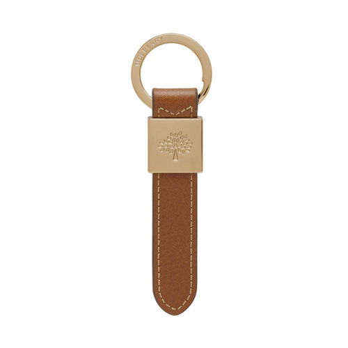 Mulberry Brynmore Keyring Oak Soft Small Grain