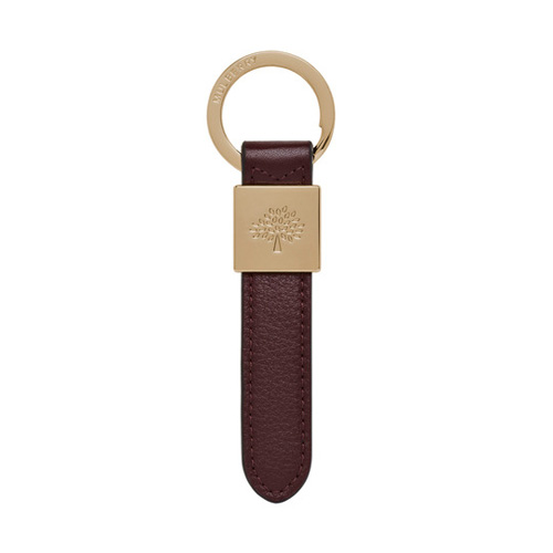Mulberry Brynmore Keyring Oxblood Soft Small Grain
