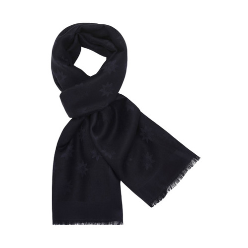 Mulberry Monogram Rectangular Scarf Midnight Blue Star Jacquard