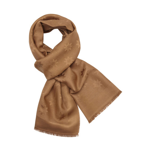 Mulberry Monogram Rectangular Scarf Camel Star Jacquard
