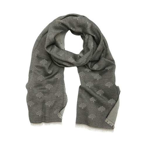 Mulberry Tamara Scarf Black Cotton