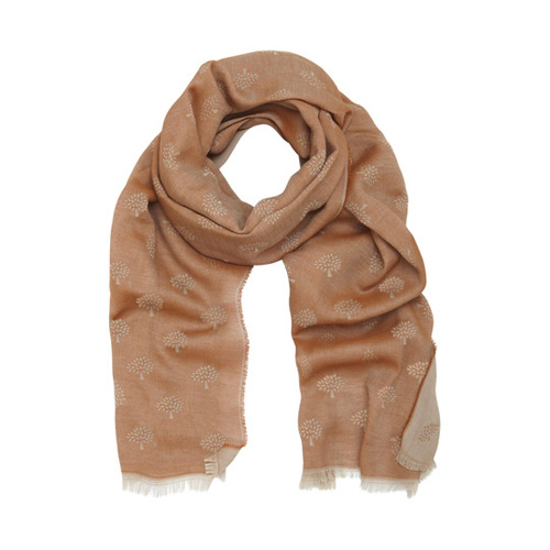 Mulberry Tamara Scarf Oak Cotton