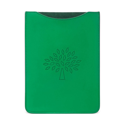 Mulberry Blossom iPad Mini Sleeve Jungle Green Calf Nappa