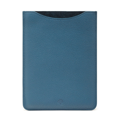 Mulberry Simple iPad Mini Sleeve Steel Blue Small Classic Grain