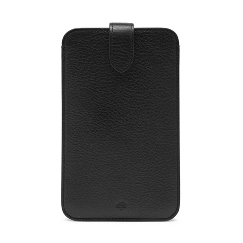 Mulberry Large Smartphone Cover Black Natural Leather