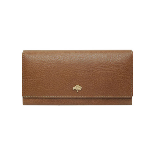 Mulberry Tree Continental Wallet Oak Natural Leather