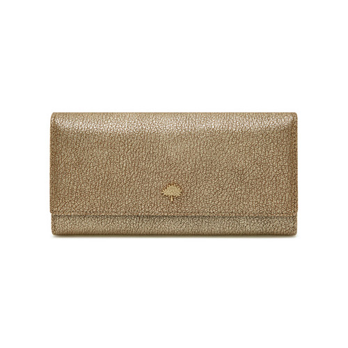 Mulberry Tree Continental Wallet Metallic Mushroom Goat