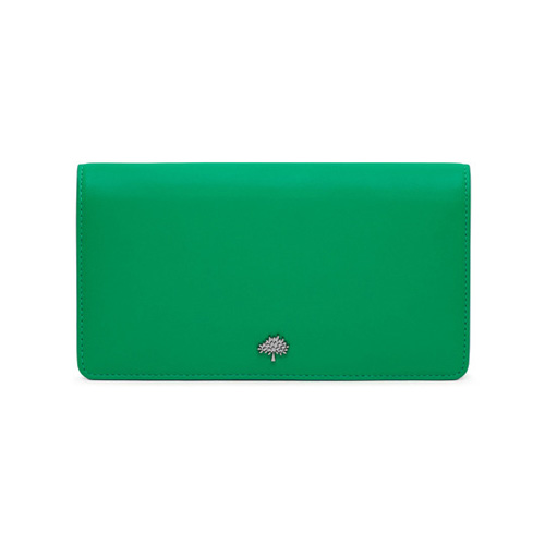 Mulberry Tree Slim Wallet Sea Blue & Jungle Green Lamb Nappa