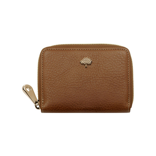 Mulberry Tree Zip Around Purse Oak Natural Leather