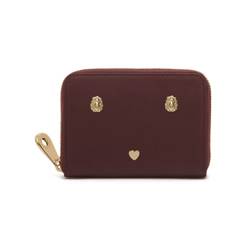 Mulberry Cara Delevingne Zip Around Purse Oxblood Silky Classic Calf with Rivets