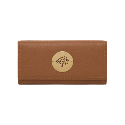 Mulberry Daria Continental Wallet Oak Spongy Pebbled