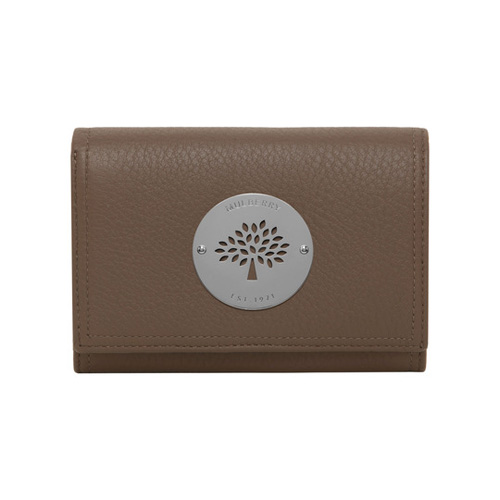 Mulberry Daria French Purse Taupe Spongy Pebbled