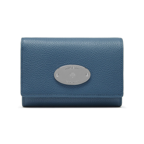 Mulberry French Purse Steel Blue Small Classic Grain