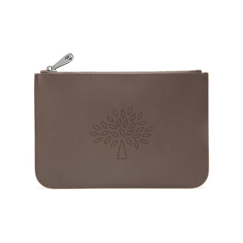 Mulberry Small Blossom Pouch Taupe Calf Nappa