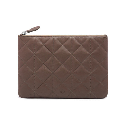 Mulberry Cara Delevingne Small Pouch Taupe Quilted Nappa