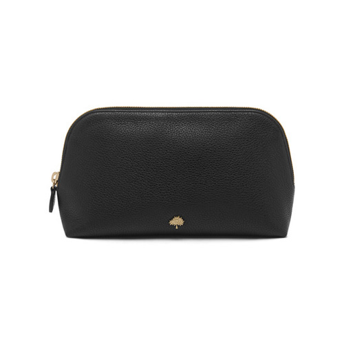 Mulberry Large Make Up Case Black Small Classic Grain