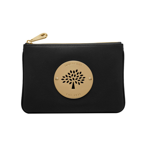 Mulberry Daria Pouch Black Spongy Pebbled