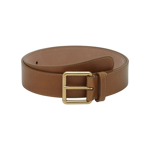 Mulberry Wide Buckle Belt Oak Natural Leather