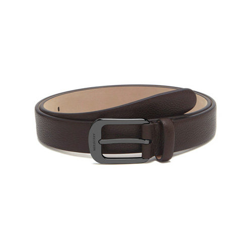 Mulberry Formal Buckle Belt Chocolate Small Classic Grain