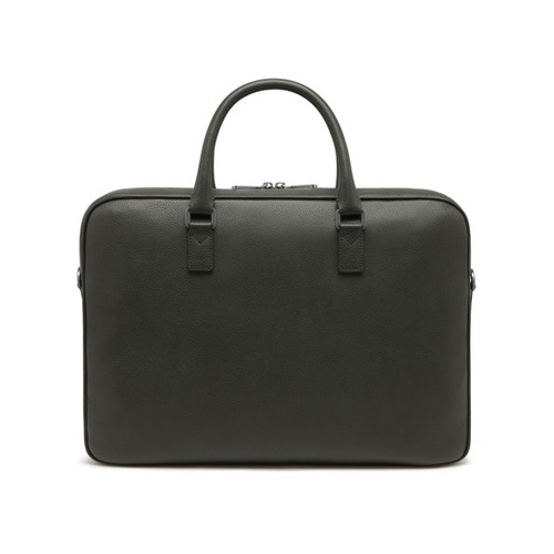 Mulberry Theo Day Document Case Flint Grey Small Classic Grain