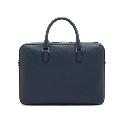 Mulberry Theo Day Document Case Regal Blue Small Classic Grain