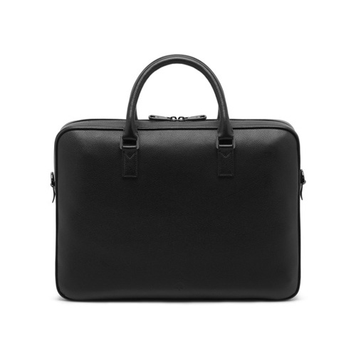 Mulberry Theo Day Document Case Black Small Classic Grain