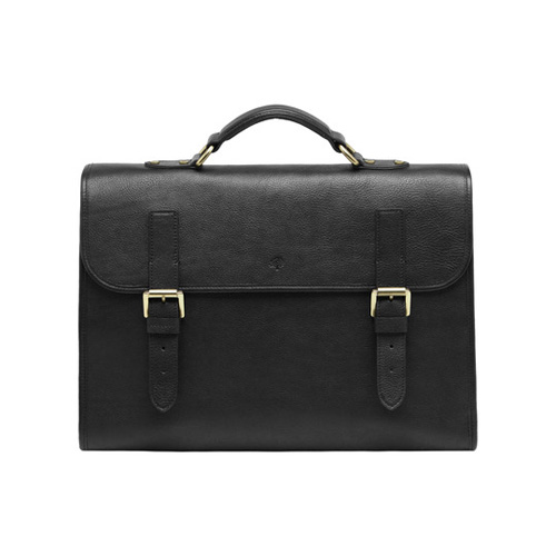 Mulberry Walter Black Natural Leather