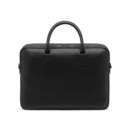 Mulberry Theo Travel Document Case Black Small Classic Grain