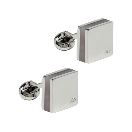 Mulberry Sandwich Cufflinks Mother of Pearl & Metal