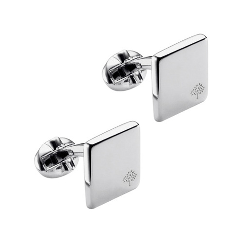 Mulberry Square Tree Cufflinks Silver Plated