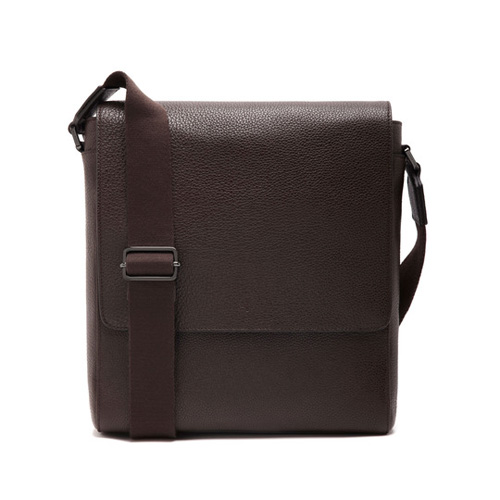 Mulberry Maxwell Slim Messenger Chocolate Small Classic Grain