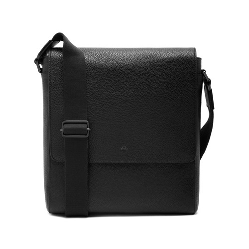 Mulberry Maxwell Slim Messenger Black Small Classic Grain