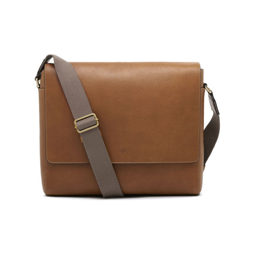 Mulberry Maxwell Messenger Oak Natural Leather