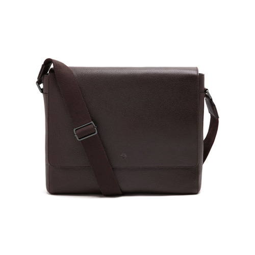Mulberry Maxwell Messenger Chocolate Small Classic Grain